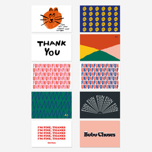 Fun Wishes Postcards Pack by Bobo Choses