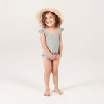 Gingham Frill One Piece Swimsuit by Rylee and Cru