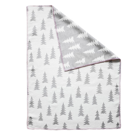 Gran Woven Child Blanket in grey/white by Fine Little Day