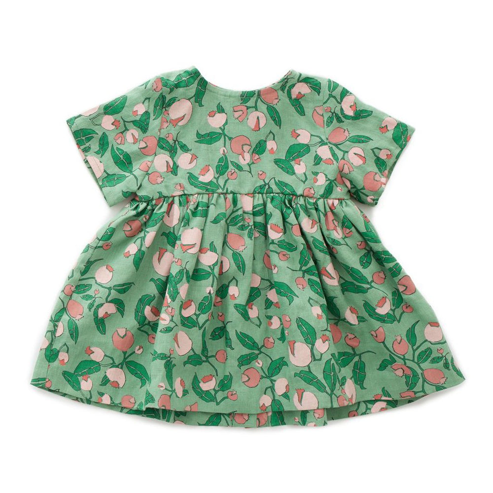 Green Flowers Dress by Oeuf