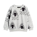 Octopus Sweatshirt in Grey Melange by Mini Rodini