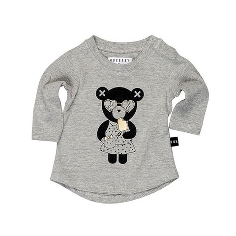 Heart Bear Long Sleeve Tee by Huxbaby
