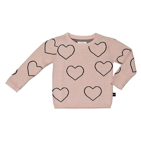 Heart Knit Jumper by Huxbaby
