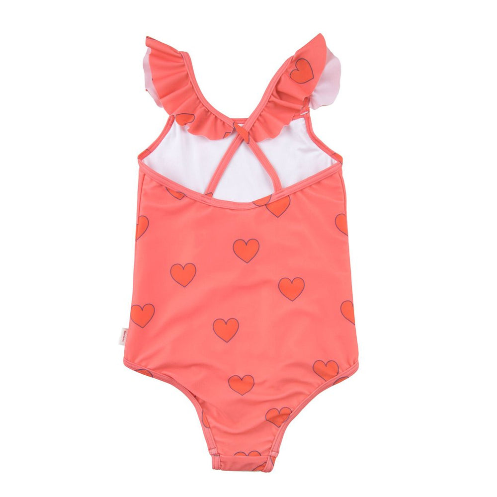 Hearts Frills Swimsuit by Tinycottons