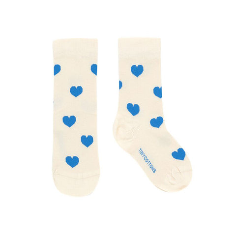 Baby & Kid Cerulean Blue Heart Socks by Tinycottons