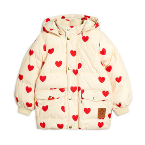 Hearts Pico Puffer Jacket by Mini Rodini