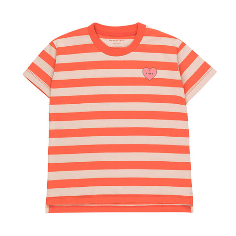 Heart Stripes Tee by Tinycottons