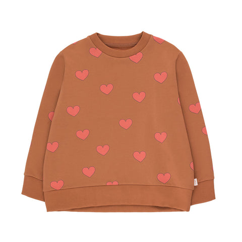 Hearts Sweatshirt by Tinycottons