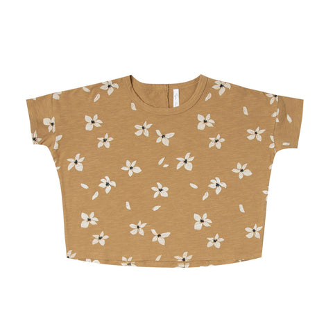 Hibiscus Boxy Tee by Rylee and Cru
