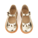 June Mary Jane Shoe in Gold by Young Soles