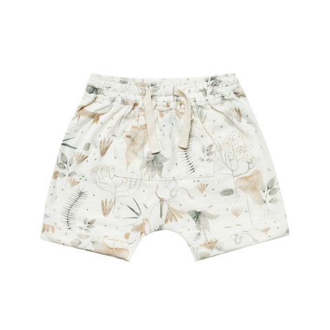 Jungle Front Pouch Short by Rylee and Cru