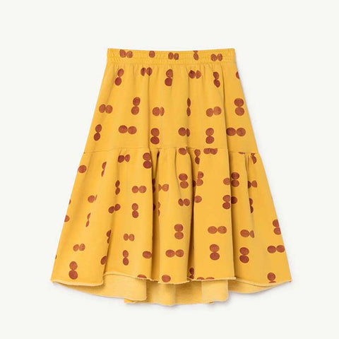 Cat Kids Skirt in Yellow Circles by The Animals Observatory