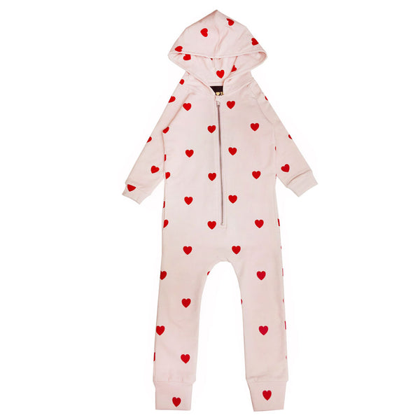Red Hearts Jumpsuit by Kip and Co x Hugo Loves Tiki
