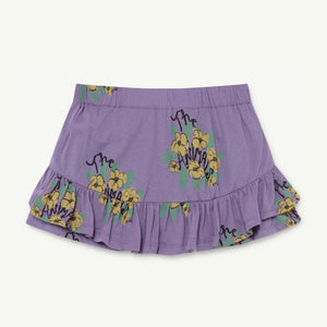 Kiwi Kids Skirt in Purple Flowers by The Animals Observatory