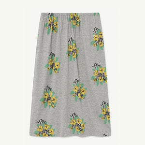 Ladybug Kids Skirt in Grey Flowers by The Animals Observatory