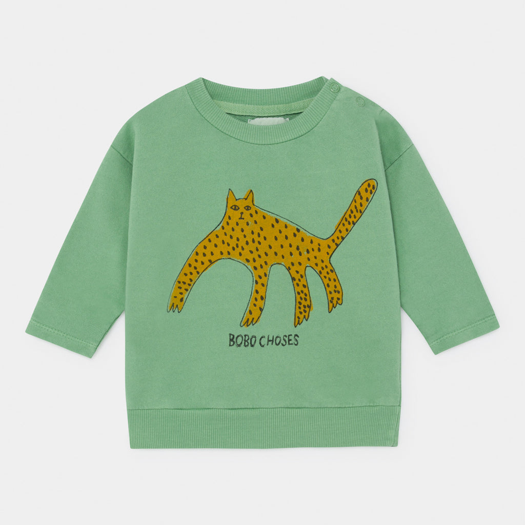 Baby Leopard Sweatshirt by Bobo Choses