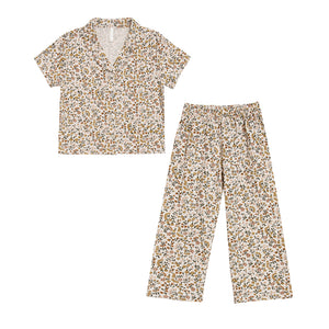 Light Floral Pajama Set by Rylee and Cru