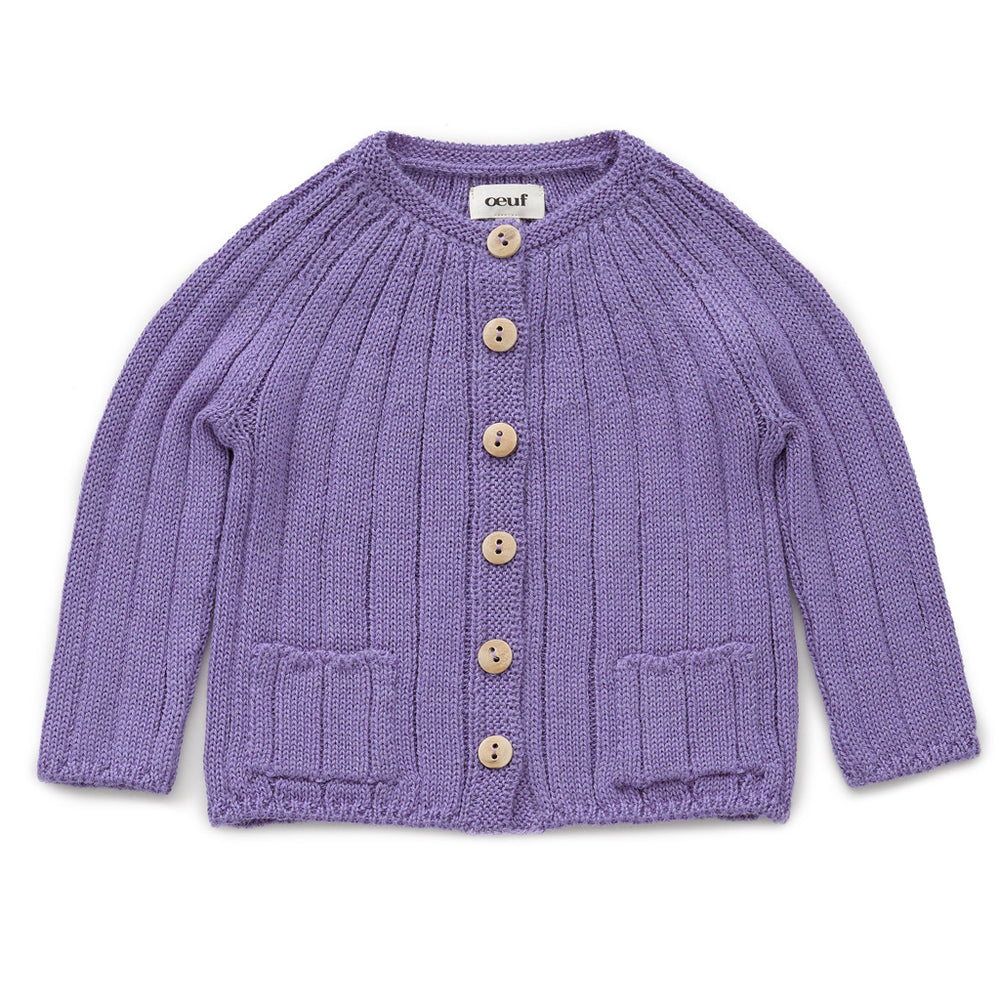 Everyday Cardi in Lilac by Oeuf