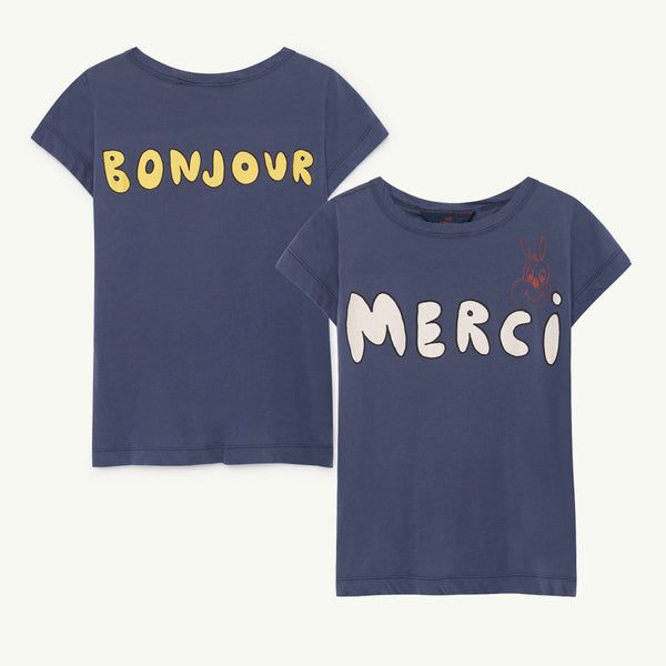 6f4d9cf90 Hippo Kids Tee in Merci by The Animals Observatory | Starship for Littles