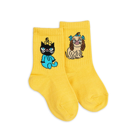 Mini Baby Socks Yellow by Mini Rodini