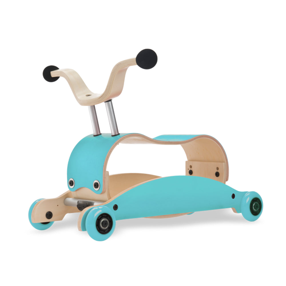 Mini Flip 4 in 1 Walker by Wishbone aqua