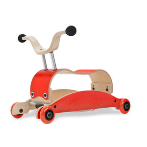 Mini Flip 4 in 1 Walker by Wishbone red