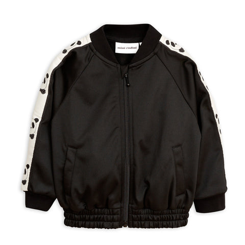 Panda Track Jacket in Black by Mini Rodini