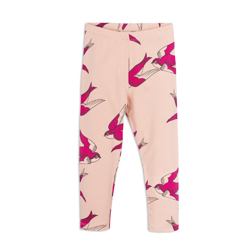 Pink Swallow Leggings by Mini Rodini