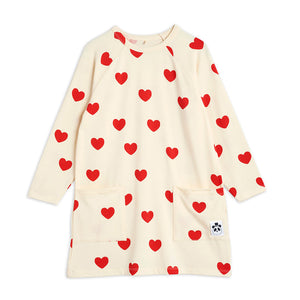 Load image into Gallery viewer, Red Hearts Long Sleeve Dress by Mini Rodini