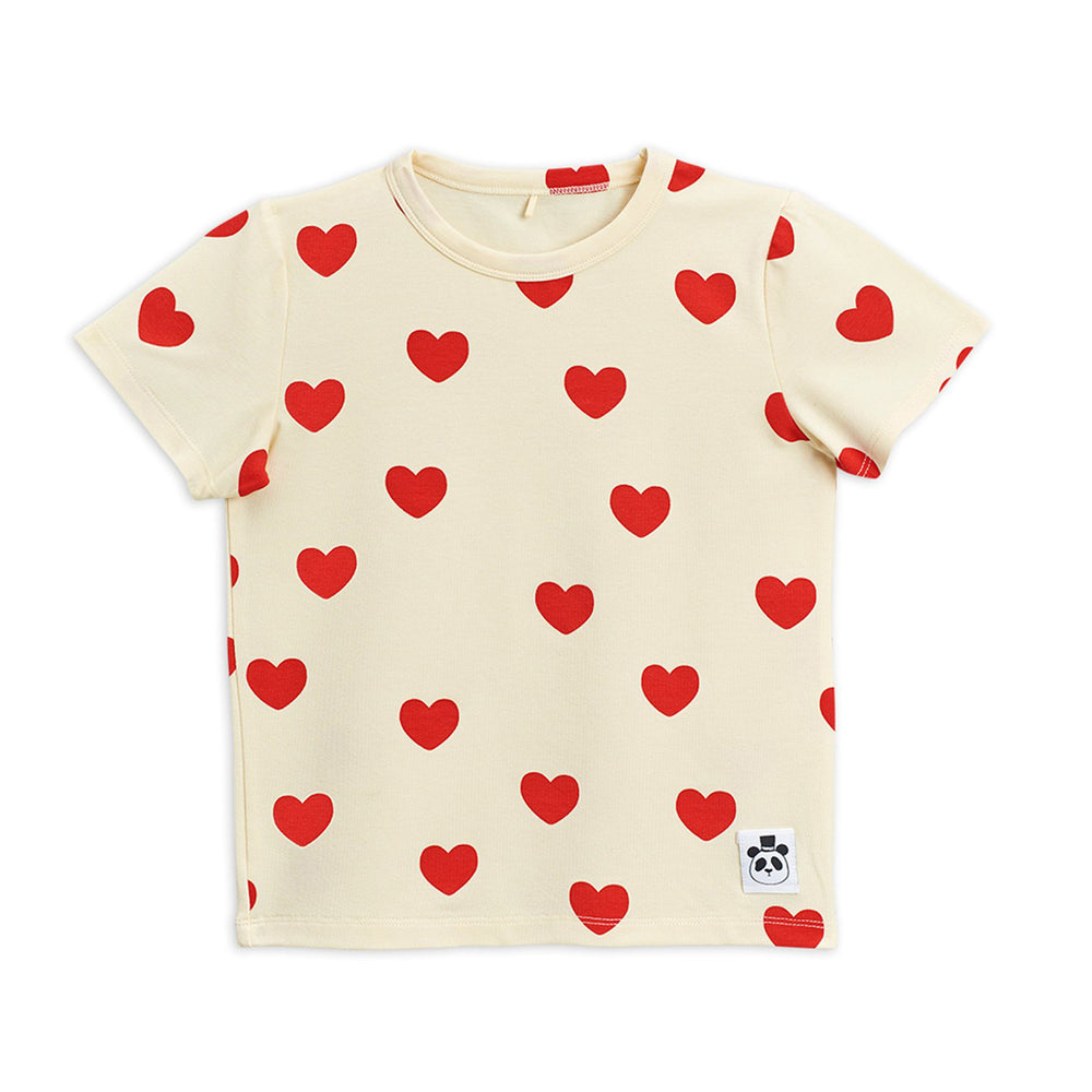 Load image into Gallery viewer, Red Hearts Short Sleeve Tee by Mini Rodini