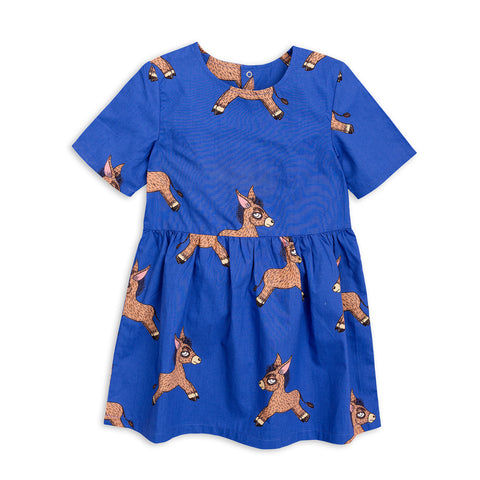 Donkey Woven Dress by Mini Rodini