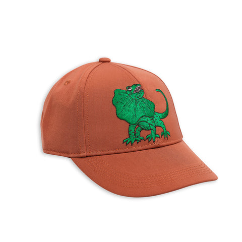 Brown Draco Embroidery Cap by Mini Rodini