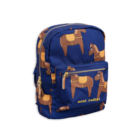 Navy Horse Backpack by Mini Rodini