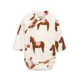 Pink Horse Wrap Bodysuit by Mini Rodini