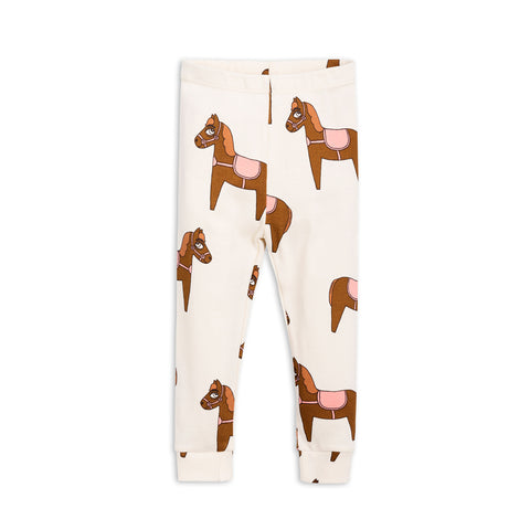 Pink Horse Leggings by Mini Rodini