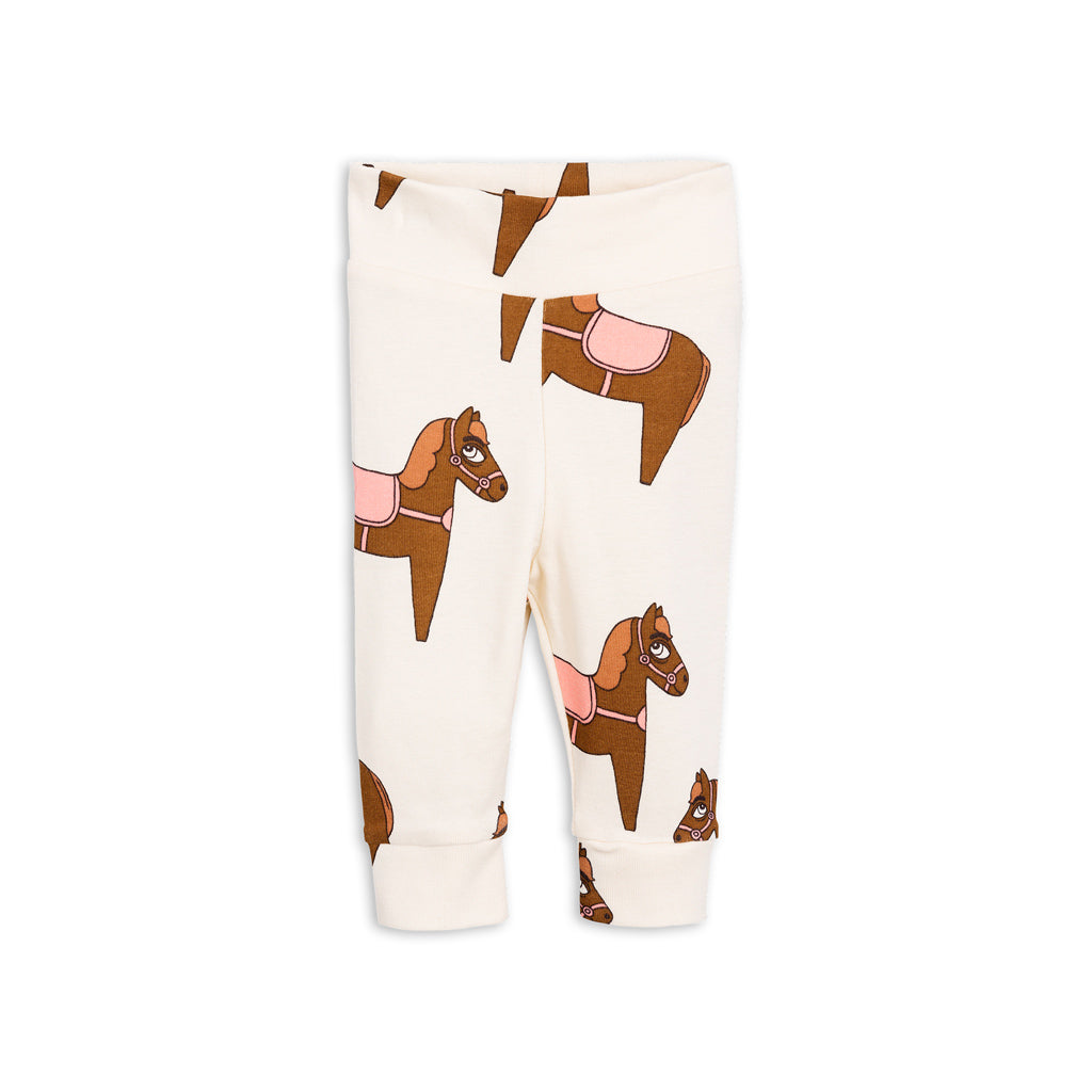 Pink Horse Newborn Leggings by Mini Rodini