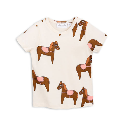 Pink Horse Short Sleeve Tee by Mini Rodini