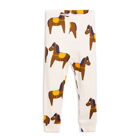 Yellow Horse Leggings by Mini Rodini