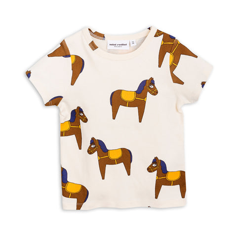 Yellow Horse Short Sleeve Tee by Mini Rodini