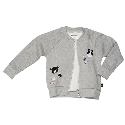 Movie Patch Sweat Jacket by Huxbaby