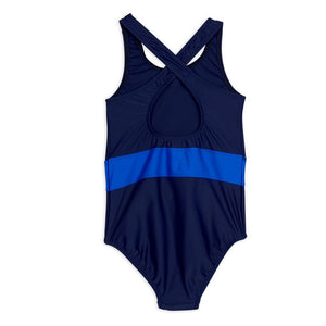 Load image into Gallery viewer, Navy Butterfly Sporty Swimsuit by Mini Rodini
