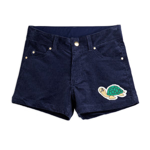 Navy Corduroy Shorts by Mini Rodini