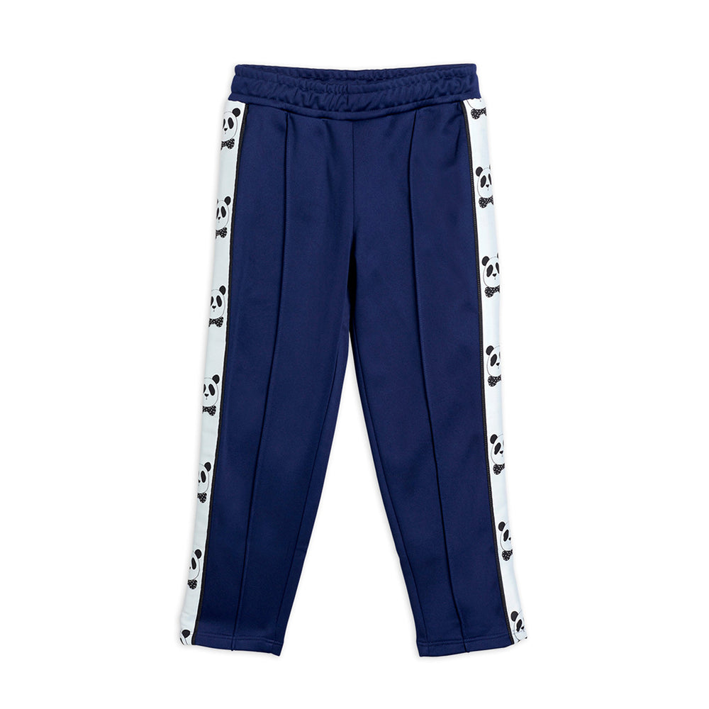 Load image into Gallery viewer, Navy Panda Track Pants by Mini Rodini
