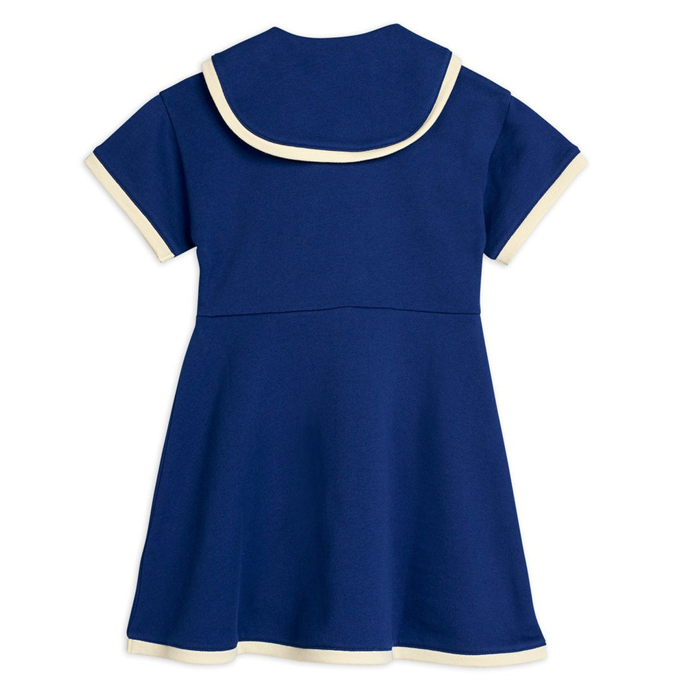 Navy Sailor Sweatdress by Mini Rodini