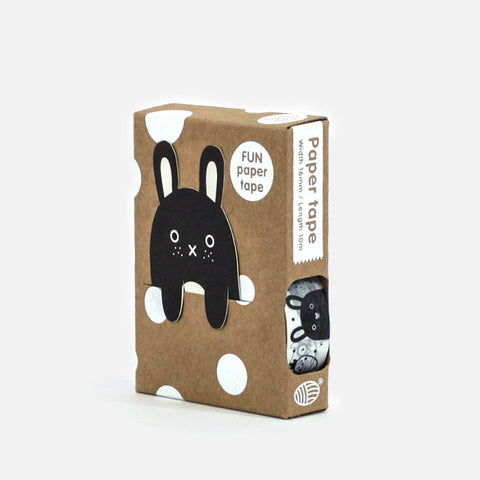 Monochrome Monster Masking Paper Tape by Noodoll