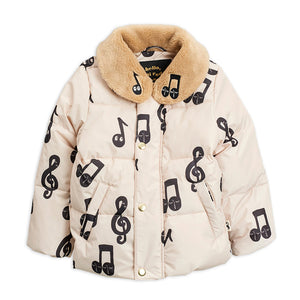 Notes Puffer Jacket by Mini Rodini