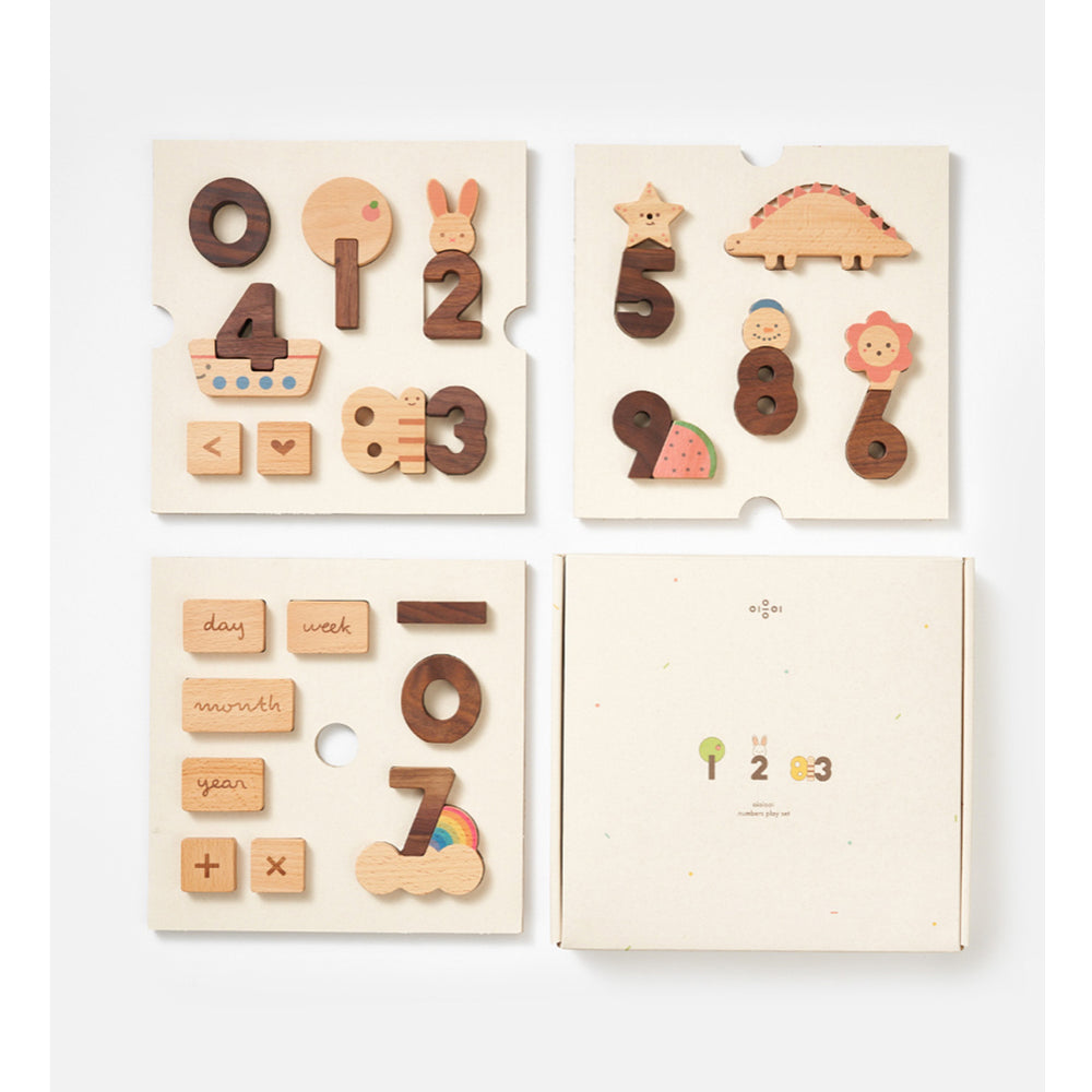 Numbers Play Block Set by Oioiooi