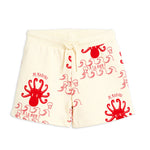 Octopus Sweatshorts in Off White by Mini Rodini