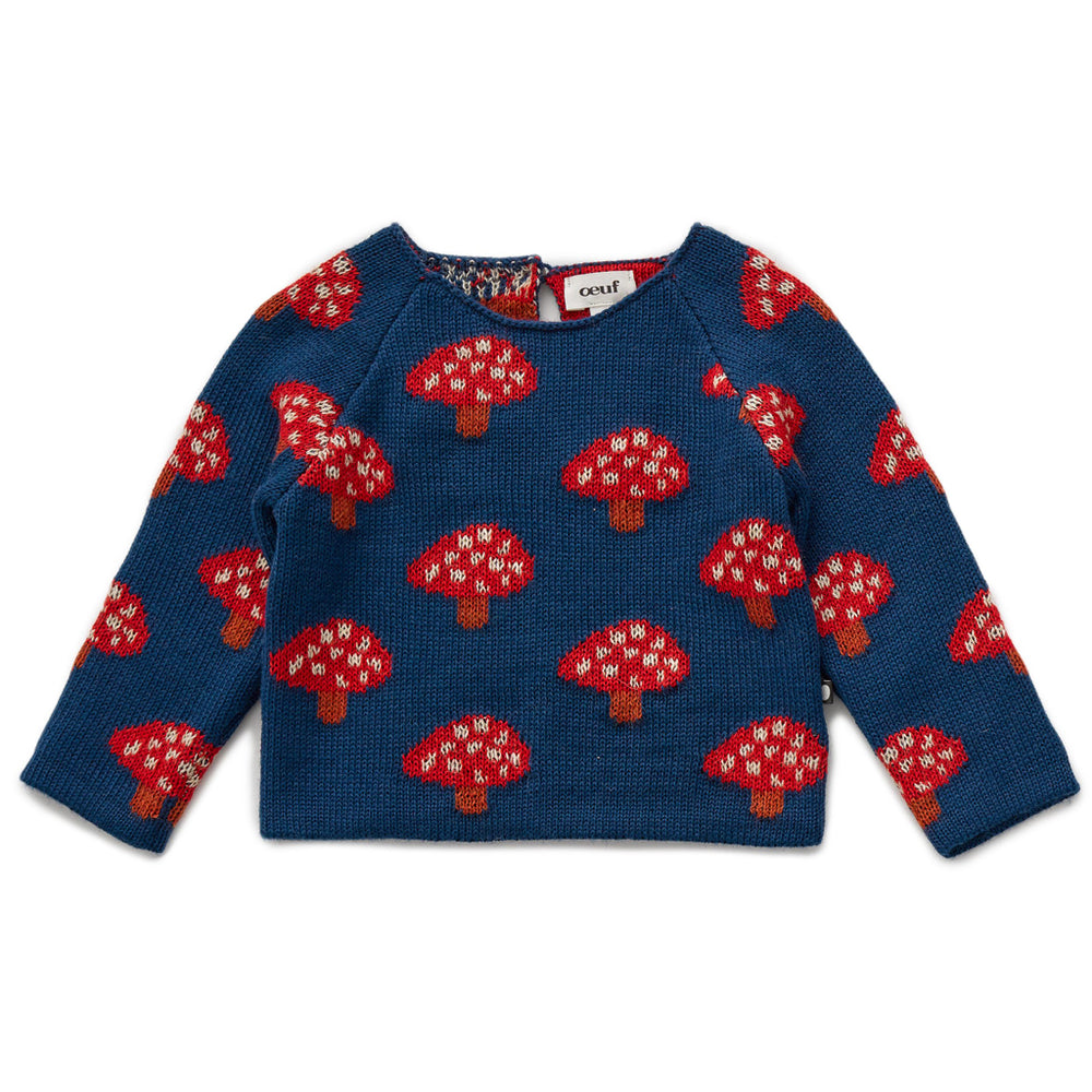 Mushroom Double Raglan Sweater by Oeuf