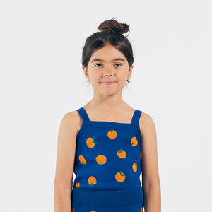 Oranges Knitted Tank Top by Bobo Choses